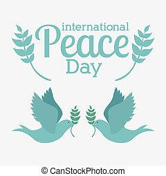 Peace design, vector illustration. - Peace design over white...