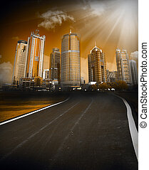city scene - the abstract background of the city scene.