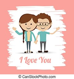 Love design over pink background vector illustration - Love...