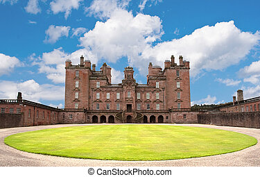 Castle Drumlanrig - One of the many castles in Scotland. In...