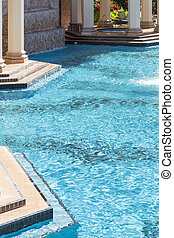 Exotic Luxury Swimming Pool and Hot Tub Abstract