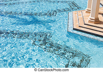 Exotic Luxury Swimming Pool Abstract