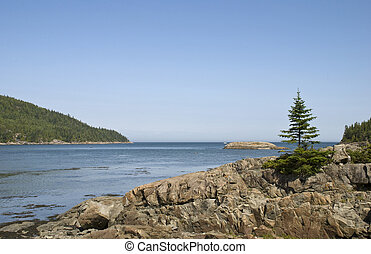 Scenic St Lawrence River at Le Bic, Quebec, Canada