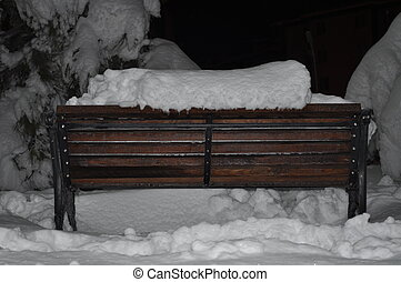 Bench Snow - Park Bench