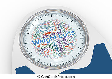 3d weight machine with word tags dial