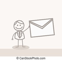 business man mail - Funny Doodle : business man mail