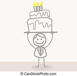 Businessman Birthday - Funny Doodle : Businessman Birthday