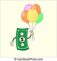 Vector money of Dollars