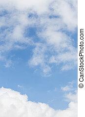 天空, 以及, clouds.,