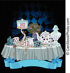 Tea Party - Wonderland Tea Party decorated table