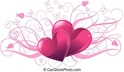 Valentine day card - Illustration of valentine day card with...