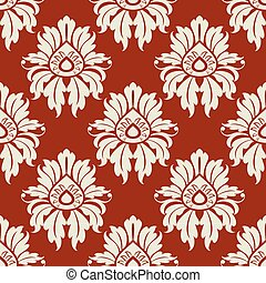Beige floral seamless pattern