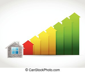 house prices up illustration design
