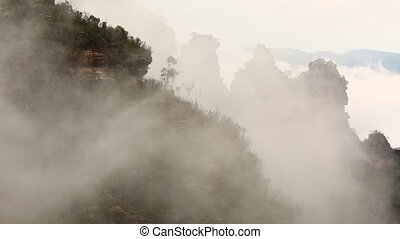 Misty Mountains - Mist rising in the Blue Mountains
