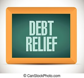 debt relief board sign illustration