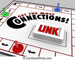 Get the Most Connections Words Board Game Link Networking