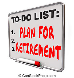 Plan Your Retirement To Do List Income Saving Golden Years...