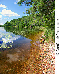 Wind Pudding Lake in Wisconsin - Beautiful northwoods...
