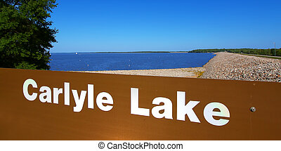 Carlyle Lake Landscape Illinois - Carlyle Lake is a...