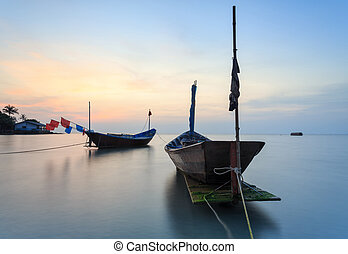 The fishing boat at Kon Ao Beach, Rayong, Thailand