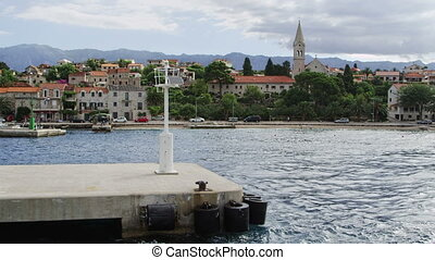 Sailing into harbor Sumartin, Brac Island - Sailing into...