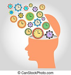 head: illustration: many clocks like gear wheels contacting...
