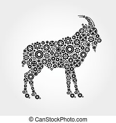 Vector image of an goat