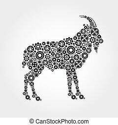 imagen,  vector,  goat
