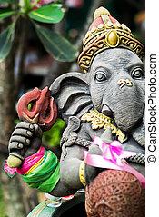 Ganesha made of stone in bali - An Ganesha made of stone in...