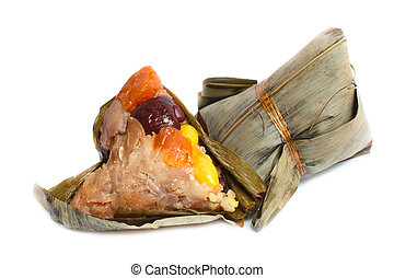 Rice dumpling, zongzi or bakcang. - rice dumpling, zongzi or...