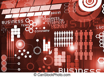 Innovative technologies - Digital business background image...