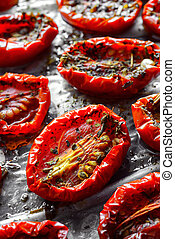 Sun dried tomatoes - homemade italian sun dried red tomatoes...