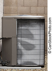 Air Condiner External Unit in Winter - Air conditioner...
