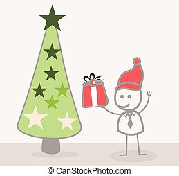 Businessman Christmass Tree - Funny Doodle : Businessman...