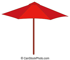 Red Umbrella - illustration drawing of a red Umbrella...