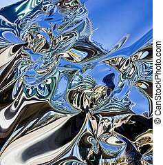 Reflection abstract background - Deformed glass background -...