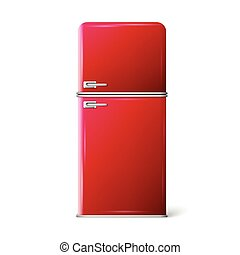 red retro refrigerator - Retro Fridge refrigerator in red...