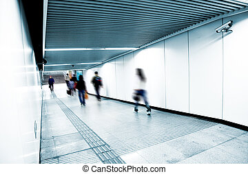 subway station - the scene of a subway station