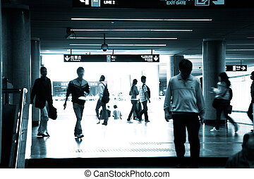 subway station - the scene of a subway station.