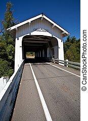 Grave Creek Bridge - Grave Creek covered span at Sunny...