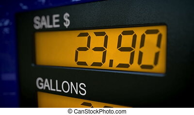Gas costs an arm and a leg - Conceptual gas pump display...