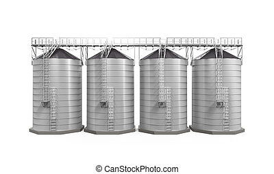 Agricultural Silo Isolated - Agricultural Silo isolated on...
