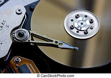 interior of a hard drive