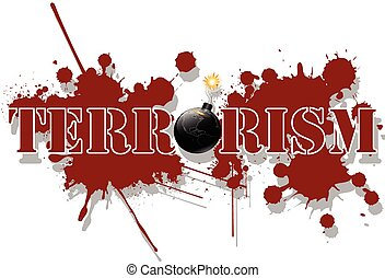 Terrorism - Illustration of terrorism in the world as a big...