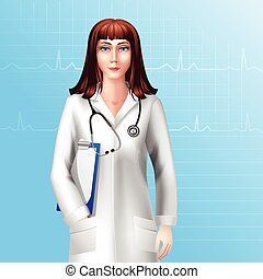 Female Doctor Character - Young pretty female doctor...