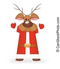 Reindeer Santa