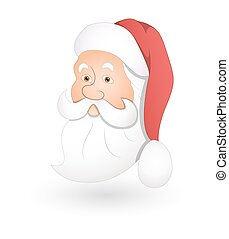 Santa Face - Cartoon Funny Old Santa Claus Face Expression...