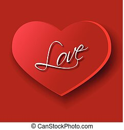 Symbol of love - Big heart as a symbol of love