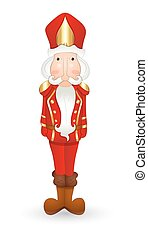 Cartoon Nutcracker Character - Cartoon Red Nutcracker...