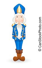 Cartoon Nutcracker - Cartoon Funny Blue Nutcracker Character...